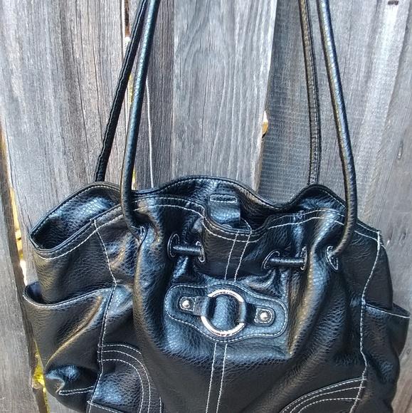 Minicci Handbags - NWOT Black Faux Leather Shoulder Bag